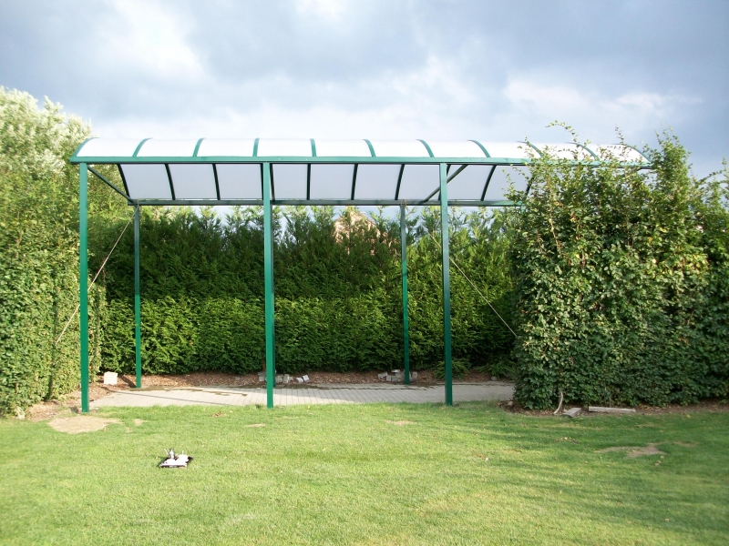 carport groen 3x10