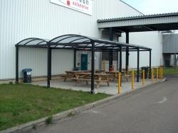 dubbele carport 9,5x6m