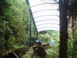 carport onder constructie